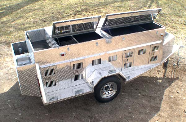 Dog Trailer bird-n-buck outfitters builds custom aluminum dog trailers to fit